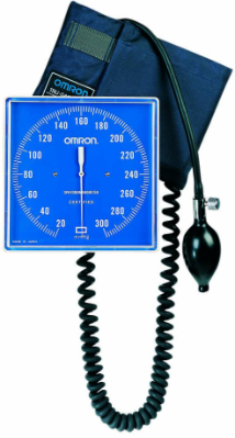 OMRON Square Faced, Wall Mounted Aneroid Sphygmomanometer, with Calibration Kit