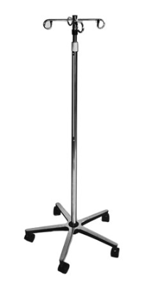 BV Medical IV Pole with 4 Hangers   (5-legged stand)