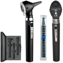 KaWe PICCOLIGHT® Pocket Set, F.O. Otoscope / E56 Opthalmoscope