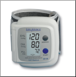 "A&D LifeSource Wrist Auto-Inflation: 5.3"" - 7.7"" (13.5 - 19.6 cm)"