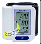 "LifeSource Digital Wrist Monitor: Cuff Size 5.3""-8.5"" (13.5 - 21.6 cm)"