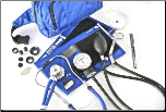 Barrington Diagnostics Sprague Rappaport Stethoscope & Aneroid Sphygmomanometer Fanny Pack Deluxe Kit