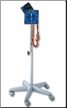 OMRON Square Faced, Rolling Floor Stand Aneroid Sphygmomanometer, with Calibration Kit