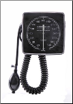Barrington Diagnostics Wall Mounted Clock Aneroid Sphygmomanometer