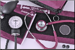 Barrington Diagnostics Carrying Case w/ Stainless Steel Stethoscope & Aneroid Sphygmomanometer