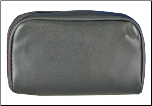 Black Vinyl Zipper Case