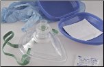 CPR Mask With One Way Valve and Carrying Case
