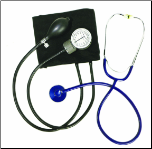 Barrington Diagnostics Two-Party Blood Pressure Kit with D-Ring Closure, Black